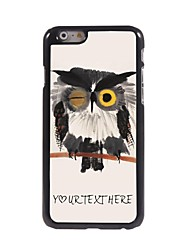 Personalized Phone Case - Blink Owl Design Metal Case for iPhone 6 Plus