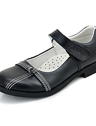 Girls' Shoes Dress / Casual Leather Flats Spring / Summer / Fall / Winter Mary Jane Flat Heel Black