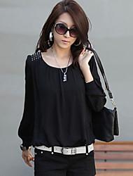 jfs Frauen beiläufiges Chiffon- T-Shirt