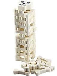 Скелет дизайн кости деревянные строительные блоки Jenga набор игрушек