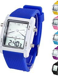 Unisex Colorful Square-Shaped Dial Multifunction Digital Silicone Wrist Watch (1Pc)(Assorted Colors) Cool Watches Unique Watches