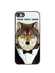 caja del teléfono personalizado - caso del diseño del metal de lobo para el iphone 5 / 5s
