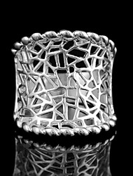 Frauenhöhlten Versilberung Ringe 8 # (1pc)