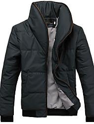 homens Dibai lazer moda estande gola do casaco equipada