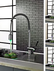 Charmingwater Deck Mounted Single Handle One Hole with Chrome Kitchen faucet