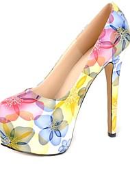 bombas plataforma sapatos stiletto calcanhar de couro das mulheres sapatos