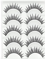 New 5 Pairs American Sytle Natural Looking Black Long False Eyelashes Eyelash Eye Lashes for Eye Extensions