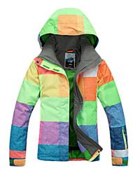 Women's Ski Ski/Snowboard Jackets Waterproof / Breathable / Wearable / Windproof / Thermal / Warm Green / Blue / Purple / Orange / Others
