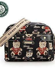 borse delle ragazze sacchetto di cuoio del messaggero borsa di tela crossbody diagonale Daka bear®
