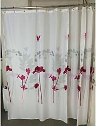 fleur avec motif papillon polyester rideau de douche