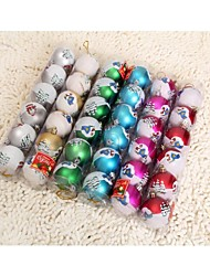 6 Pcs a Box 6cm Christmas Balls, Christmas Decoration Christmas Tree Ornament