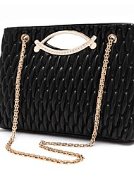 Women's Lady Chain Ruffled Bag Shoulder Bag