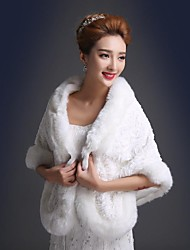 Fur Wraps / Wedding  Wraps Shawls Faux Fur Wedding / Party/Evening
