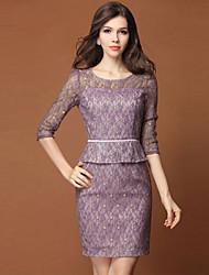 DFN Women's Half Sleeve Fitted Ol Dress