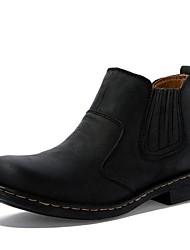 herenschoenen mode laarzen platte hak leahther enkellaars met slip-on meer kleuren beschikbaar