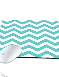 elonbo moda chevron pu couro anti-derrapante pad mouse de computador mousepad