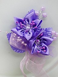 Wedding Flowers Free-form Roses Boutonnieres Wedding Party/ Evening Satin