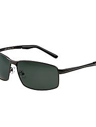 Óculos de Sol Homens's Clássico / Leve / Esportivo / Polarized Retângular Cinzento Escuro Óculos de Sol / Condução -Rim completa