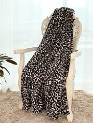 Simple & Opulence® Leopard Printing Pv Fleece  Blacket