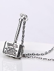 Men's  Small Hammer Supporting Alloy Necklace(1ps)