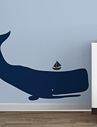 Wall Stickers Wall Decals, Cartoon Whale PVC Wall Stickers