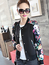 Mufans Women's Floral Print Jacket 1913#