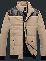 Men's Shoulder With Leather Cotton Coat