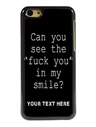 Personalized Phone Case - Fuck Letter Design Metal Case for iPhone 5C