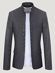 Ivan Männer koreanische Mode Winter verursachend dünn V-Ausschnitt Mantel