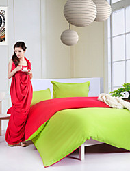 Green/Red Polyester King Duvet Cover Sets