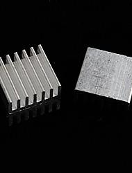 disipador de calor de aluminio / electrónicos bloque de aluminio del radiador / refrigeración - plata (14 x 14 x 6 mm) (10 piezas)