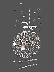 anti ™ Feliz Natal Papai Noel e presentes filme janela bola natal 60 × 80 cm