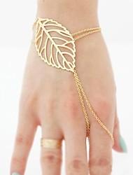 European Style Golden Leaves Charm Ring Bracelets Christmas Gifts
