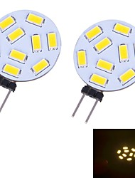 LED à Double Broches Blanc Chaud / Blanc Froid G4 3W 9 SMD 5730 350 LM DC 12 V