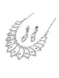 Jewelry-Necklaces / Earrings(Rhinestone / Silver Plated)Wedding Wedding Gifts