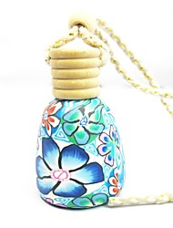 LEBOSH™ Polymer Clay Perfume Pendant  Round Essential Oil Bottles Car Hanging Decorations (Random Color)