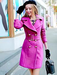 Pink Doll® Women'sBuckle Wool Tweed Elegant OL Coat