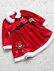 I Love Christmas Red Girls Dress Christmas Costume