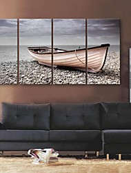 E-HOME® Stretched Canvas Art Stop The Ship Shore Decorative Painting Set of 4