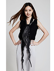 mode-stijl glanzende paillette verfraaid sjaal zwart