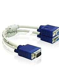 1 х VGA мужчины к 2 х VGA женский кабель VGA сплиттер