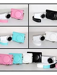 pajiatu® Mode PU-Leder Kamera Schutzhülle Taschendeckel mit Schultergurt für Samsung NX Mini NXF1 9mm Objektiv
