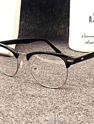 [Free Lenses] Metal Browline Full-Rim Retro Prescription Eyeglasses