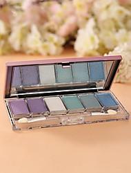 6 Palette de Fard à Paupières Sec Fard à paupières palette Poudre Normal Maquillage Quotidien