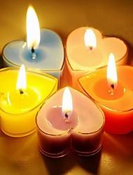 bougies en forme de coeur romantiques de parti
