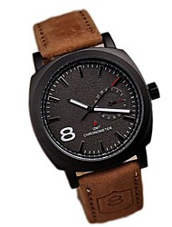 Men's Fashion Simple  Upscale Business Affairs Quartz Watch Leather Band Wrist Watch Cool Watch Unique Watch