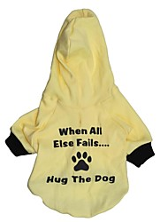 Cat / Dog Hoodie Yellow Dog Clothes Spring/Fall Letter & Number