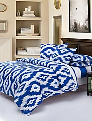 Mingjie Geometry Blue Sanding Bedding Sets 4pcs Duvet Cover Sets Bed Linen China Queen Size and Full Size