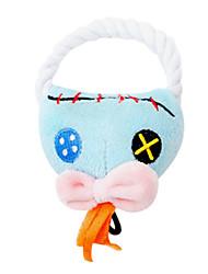 Cães Brinquedos Brinquedos Felpudos / Brinquedos que Guincham Corda Téxtil Azul