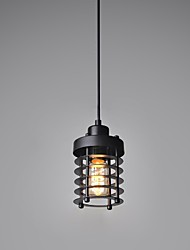 Vintage-Design-Pendelleuchte 1 Leichtmetall schwarz malen
